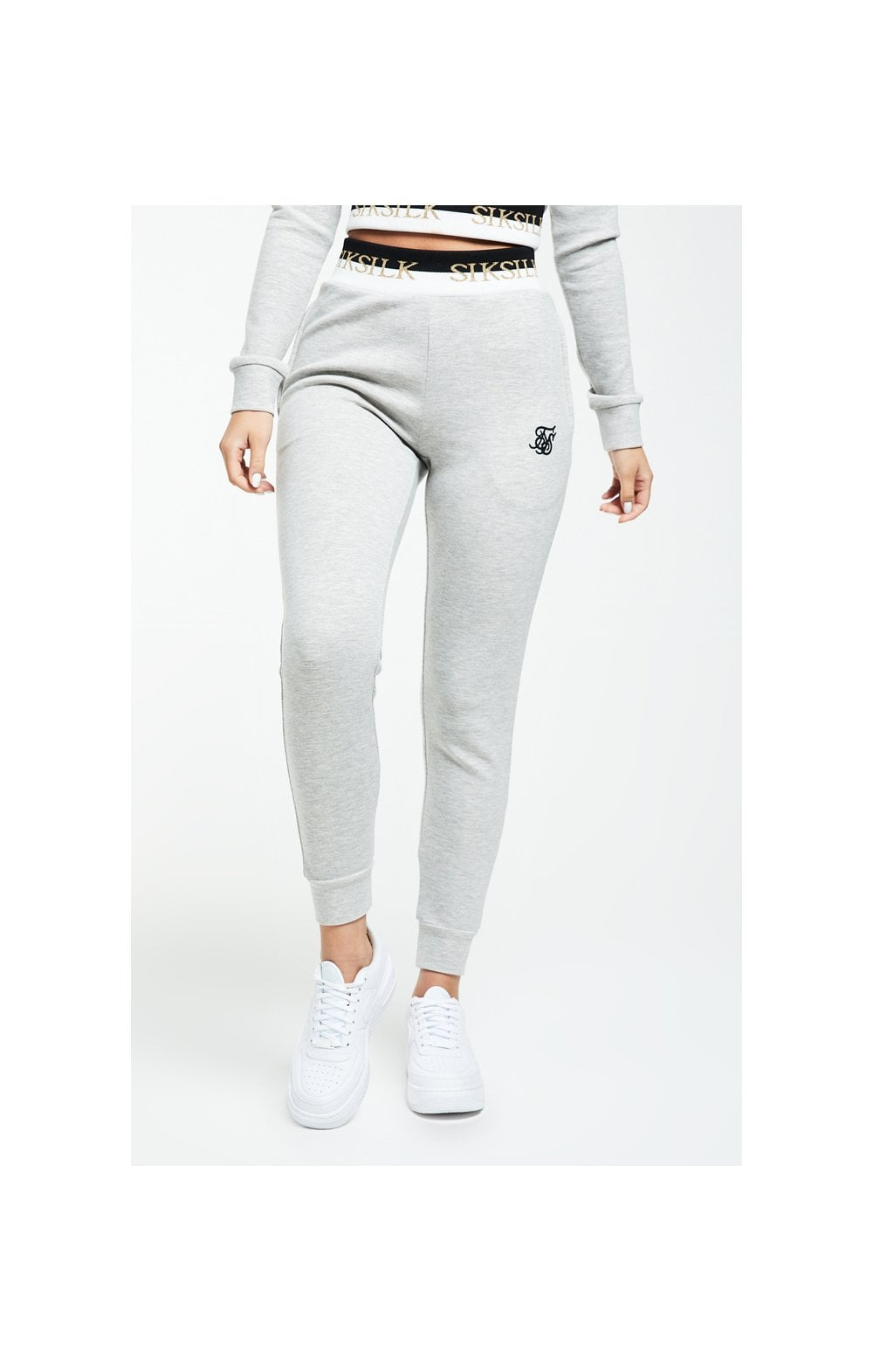 SikSilk Deluxe Track Pants - Grey Marl