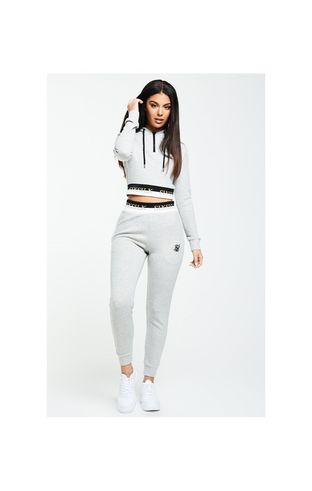 Load image into Gallery viewer, SikSilk Deluxe Track Pants - Grey Marl (1)