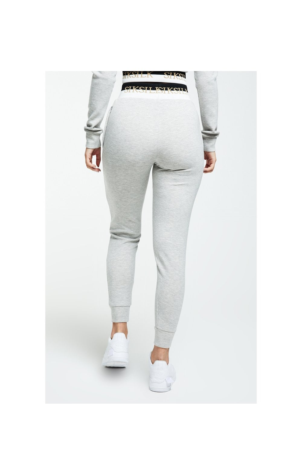 Load image into Gallery viewer, SikSilk Deluxe Track Pants - Grey Marl (5)