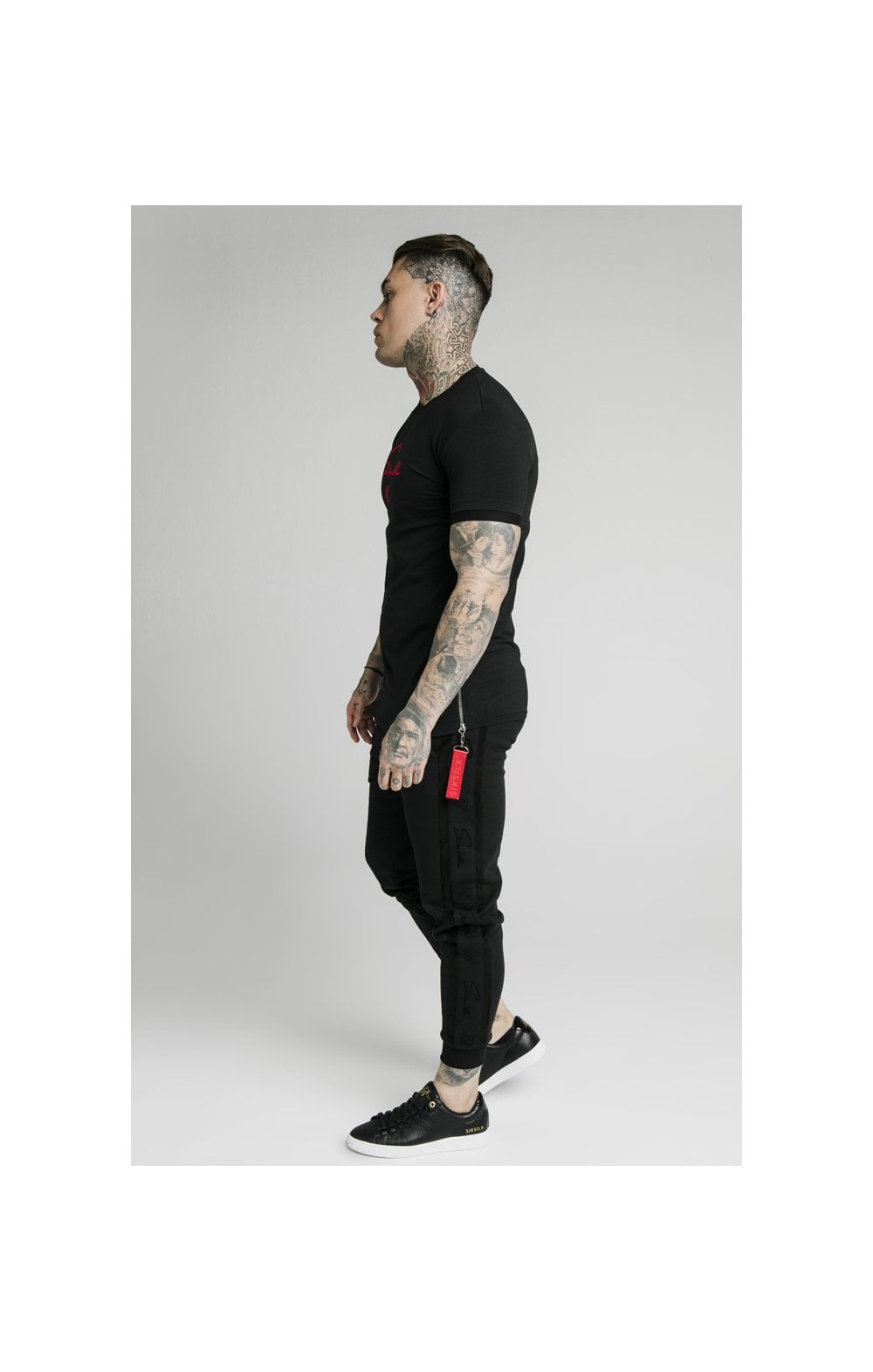 Load image into Gallery viewer, SikSilk S/S Signature Flock Tee - Black (2)