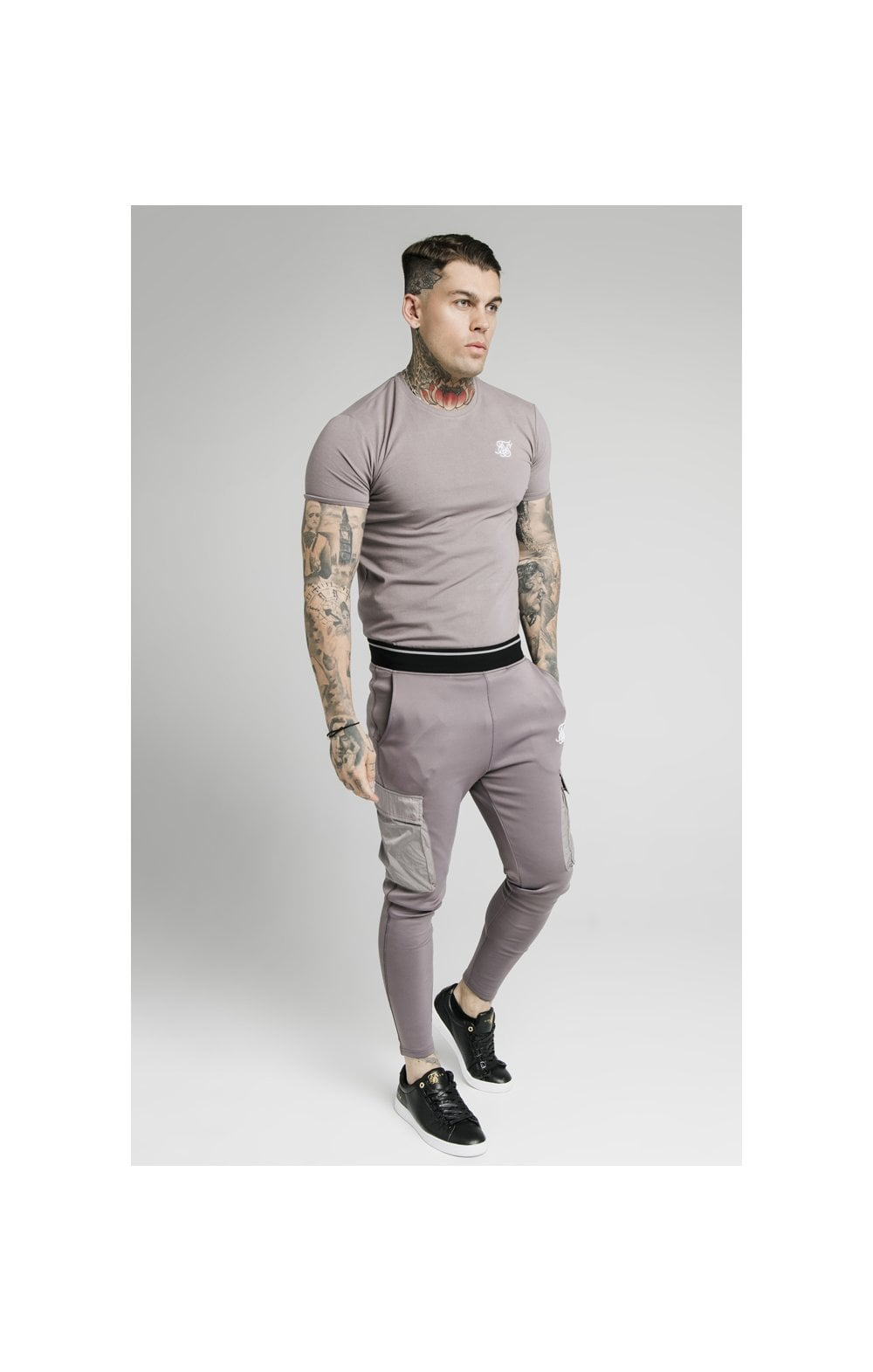 Load image into Gallery viewer, SikSilk S/S Gym Tee – Grey (2)