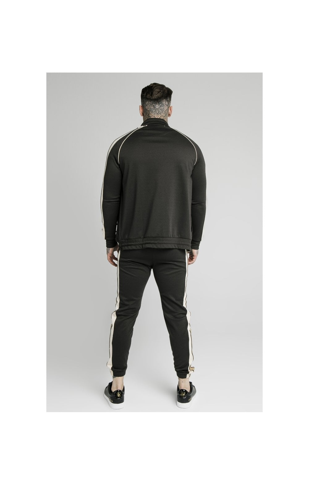 Load image into Gallery viewer, SikSilk Premium Tape Funnel Zip Through Hoodie - Anthracite (6)