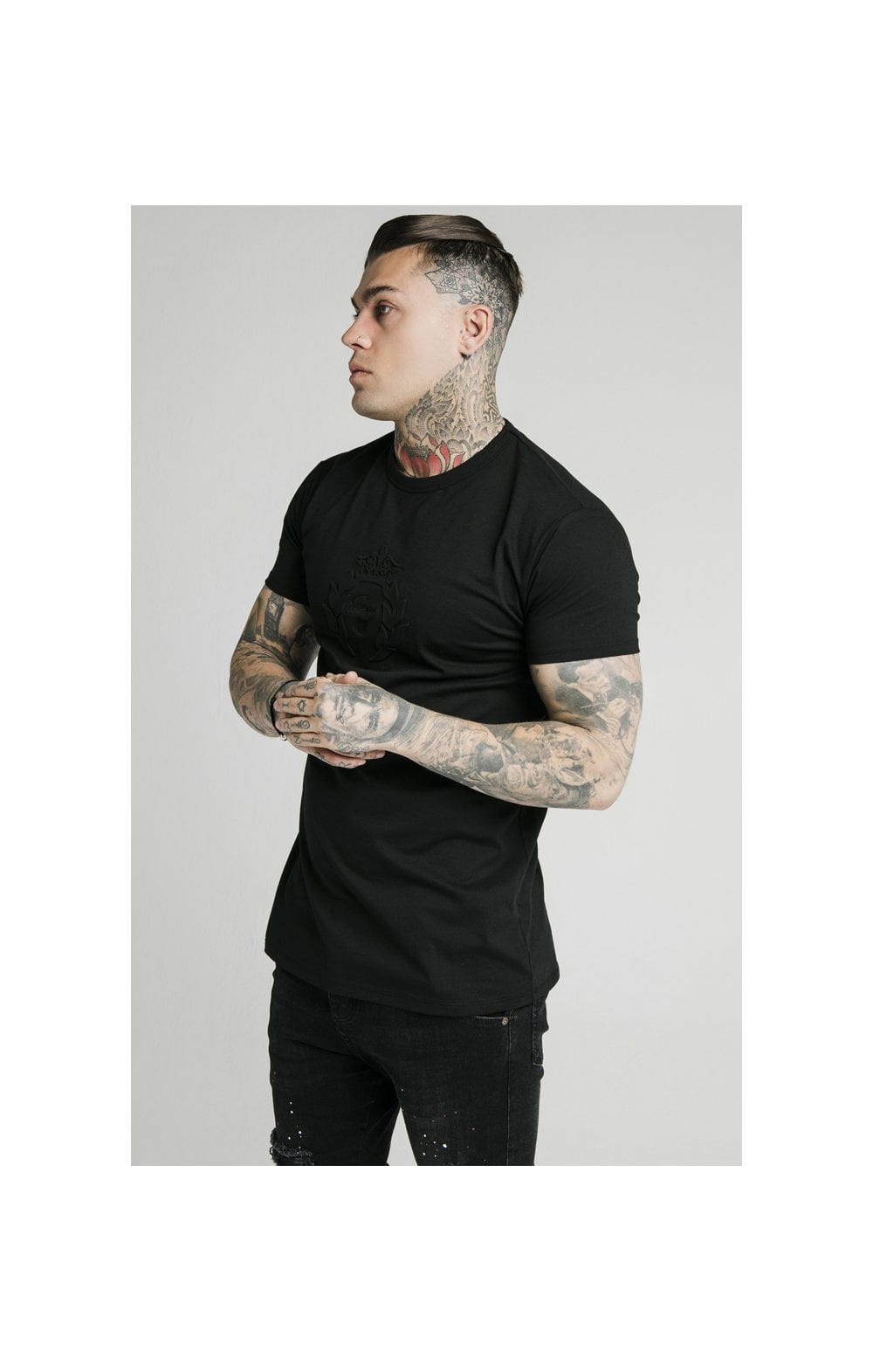 Load image into Gallery viewer, SikSilk S/S Prestige Pique Box Tee - Black (1)