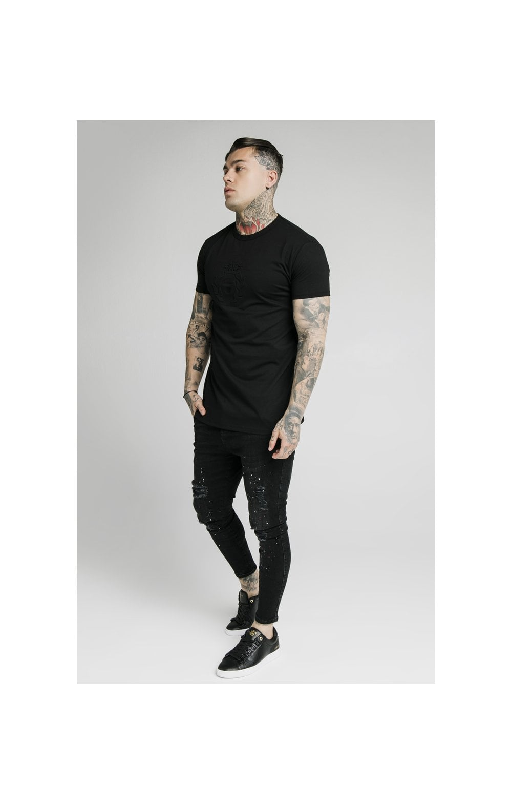 Load image into Gallery viewer, SikSilk S/S Prestige Pique Box Tee - Black (2)