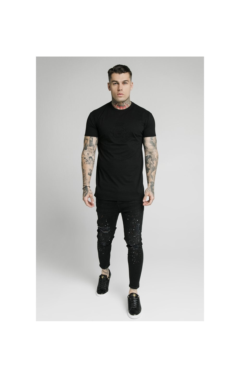 Load image into Gallery viewer, SikSilk S/S Prestige Pique Box Tee - Black (3)