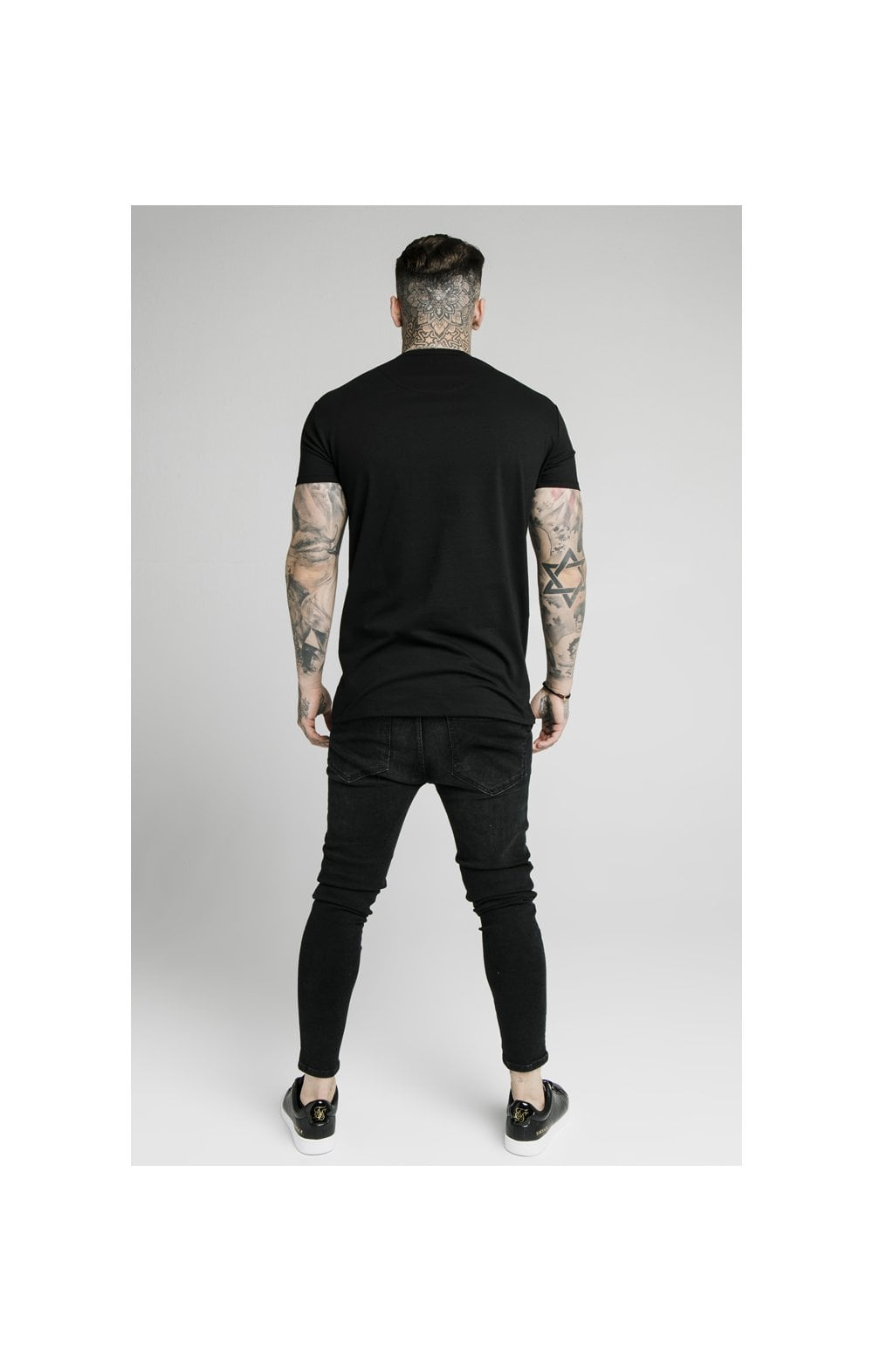 Load image into Gallery viewer, SikSilk S/S Prestige Pique Box Tee - Black (4)