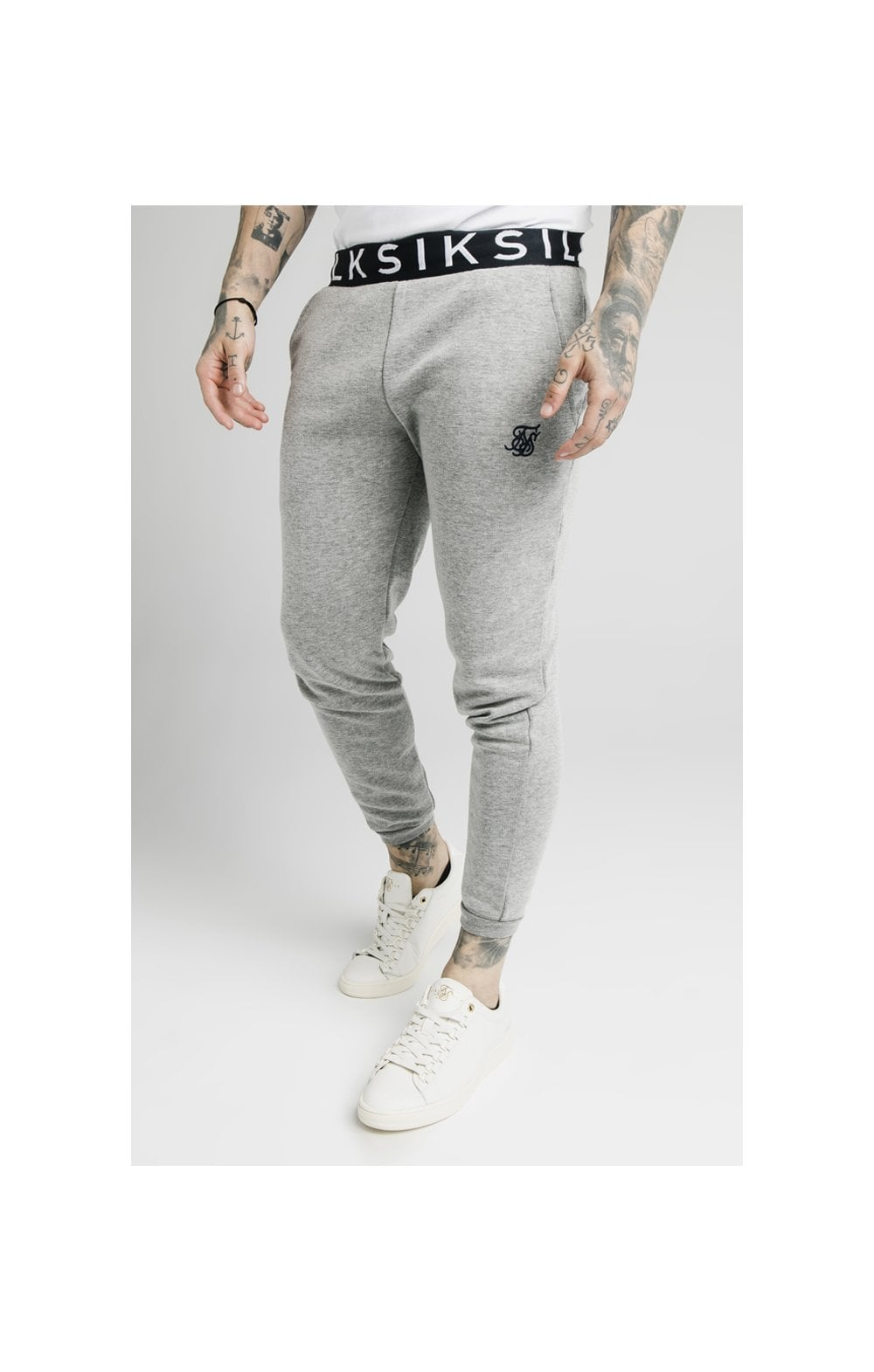 Load image into Gallery viewer, SikSilk Elastic Jacquard Pants - Grey