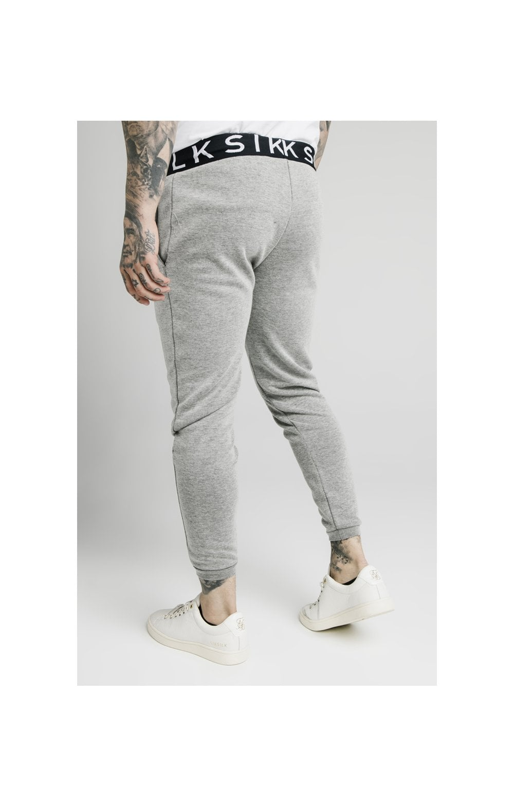 Load image into Gallery viewer, SikSilk Elastic Jacquard Pants - Grey (1)