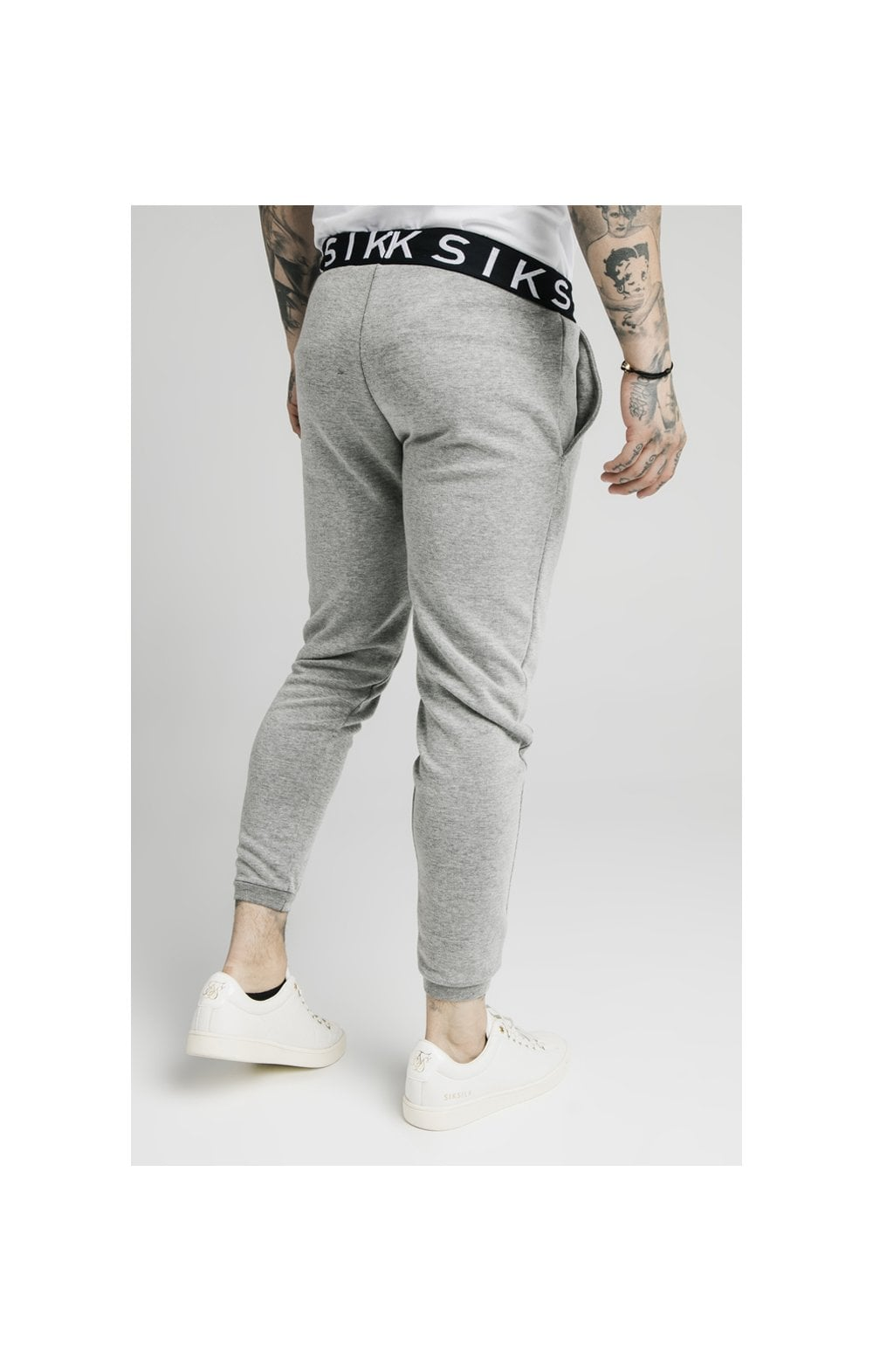 Load image into Gallery viewer, SikSilk Elastic Jacquard Pants - Grey (2)