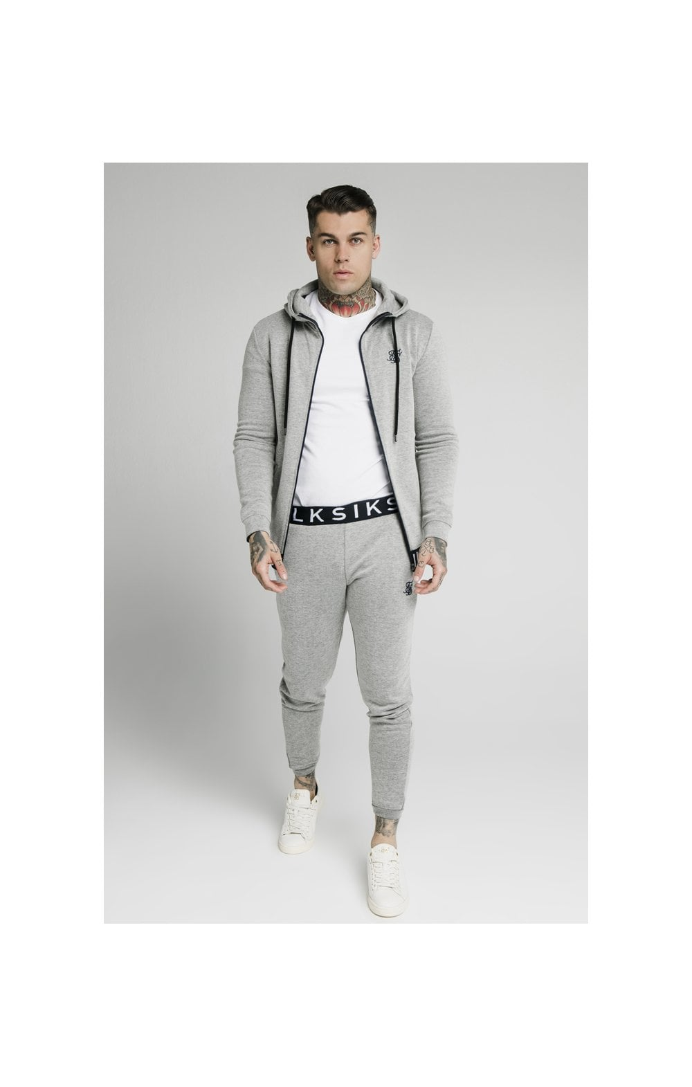 Load image into Gallery viewer, SikSilk Elastic Jacquard Pants - Grey (4)