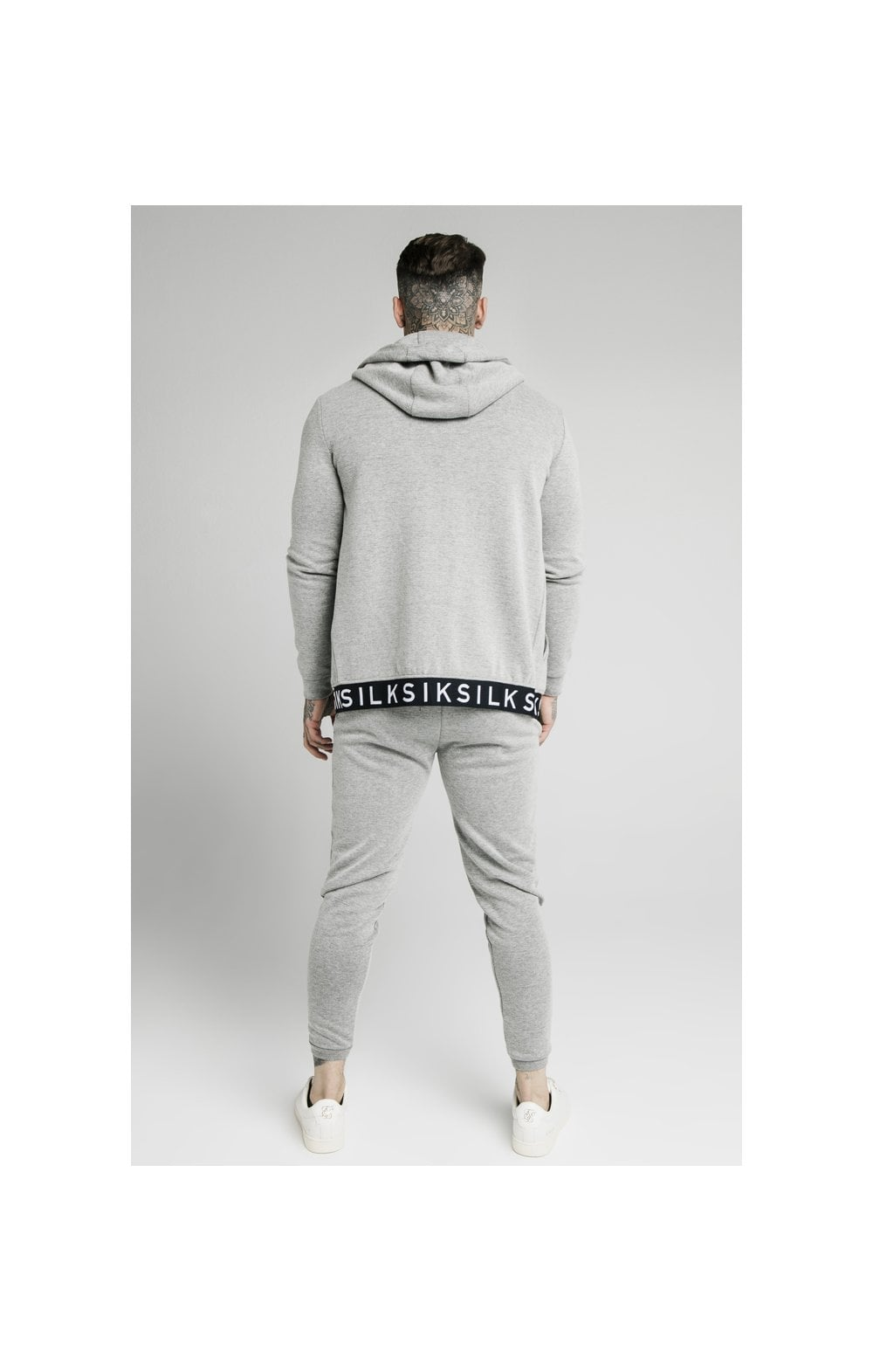 Load image into Gallery viewer, SikSilk Elastic Jacquard Pants - Grey (5)
