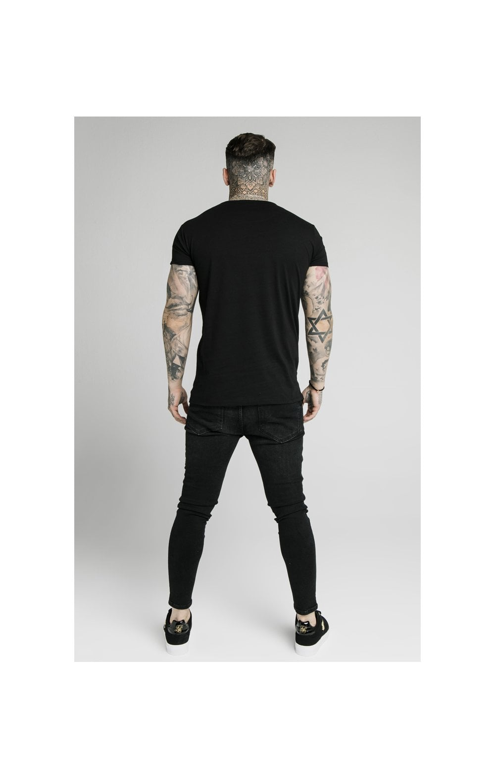 Load image into Gallery viewer, SikSilk S/S Fade Rhinestone Box Tee - Black (2)