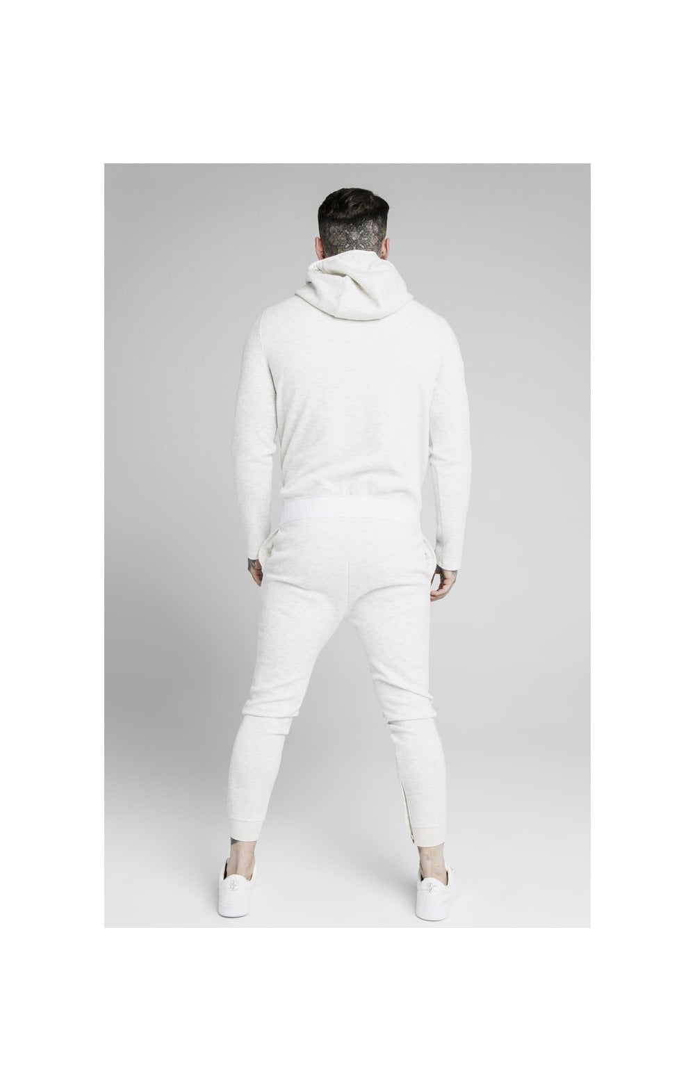Load image into Gallery viewer, SikSilk Agility Textured Zip Through Hoodie – Snow Marl (5)