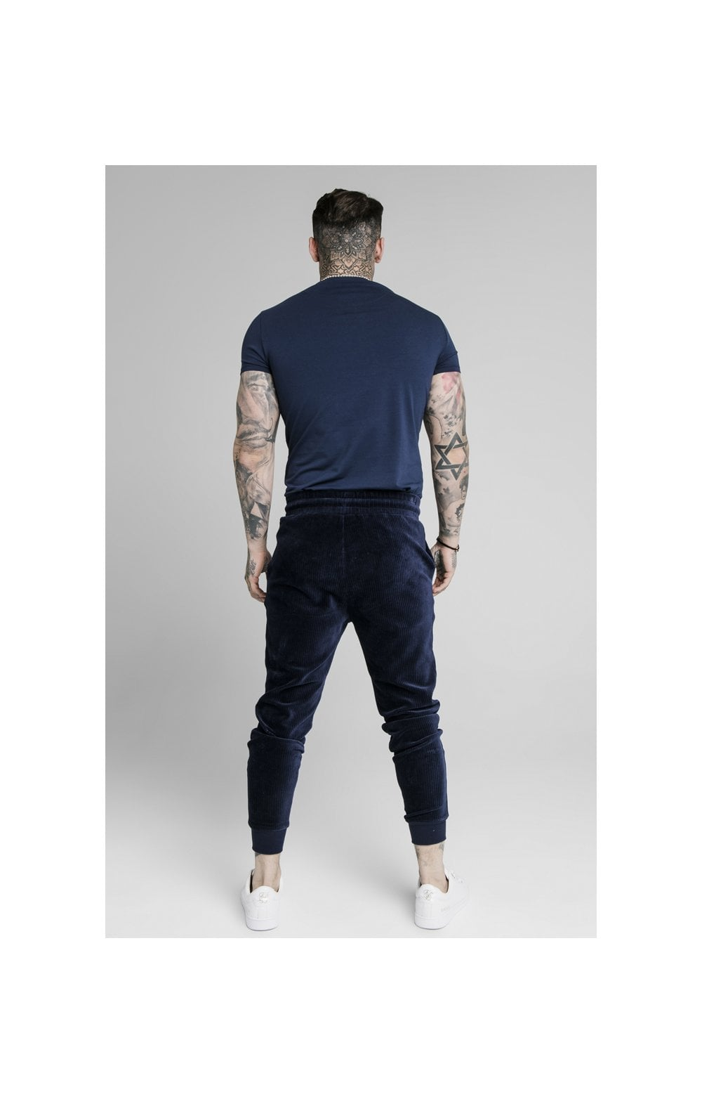 SikSilk Allure Straight Hem Gym Tee - Navy (5)