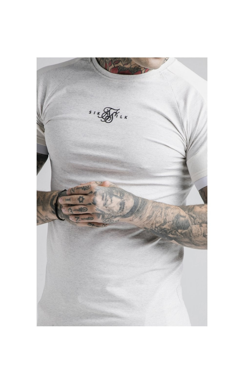 Load image into Gallery viewer, SikSilk Unite Rib Raglan Gym Tee - White