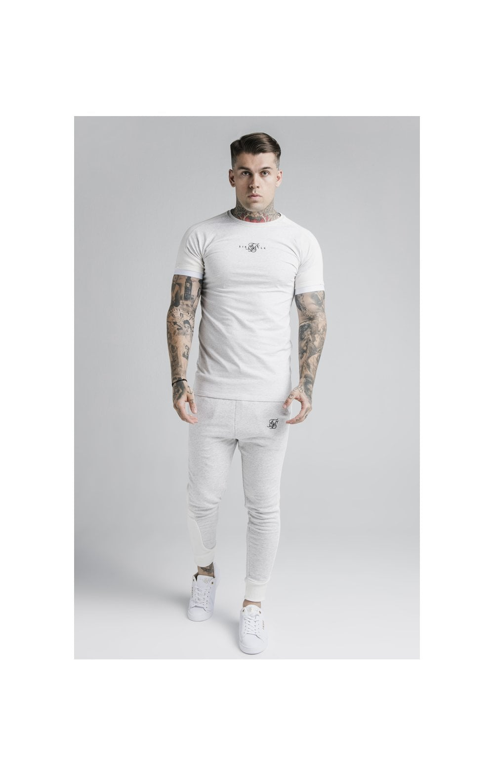 Load image into Gallery viewer, SikSilk Unite Rib Raglan Gym Tee - White (3)