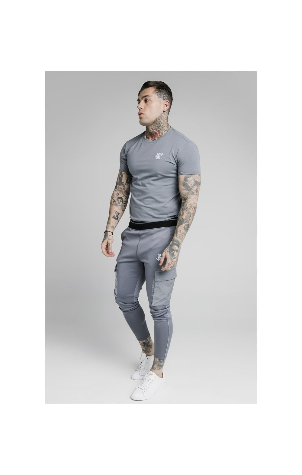 Load image into Gallery viewer, SikSilk S/S Gym Tee – Slate (4)