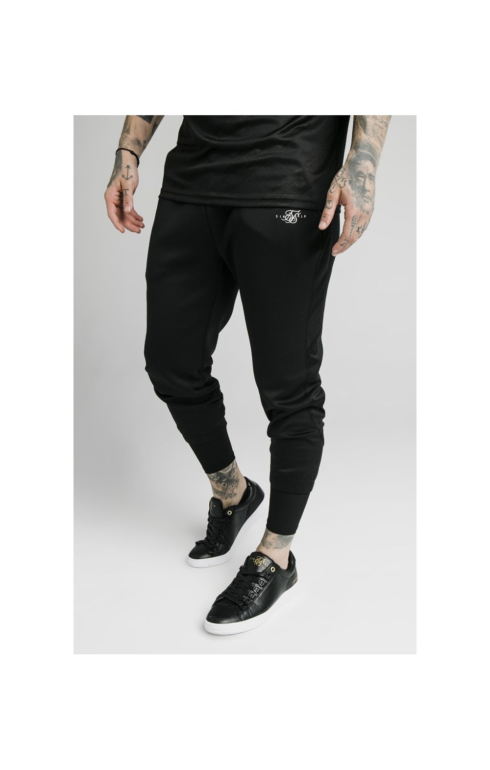 Load image into Gallery viewer, SikSilk Tranquil Dual Cuff Pants - Black & Grey