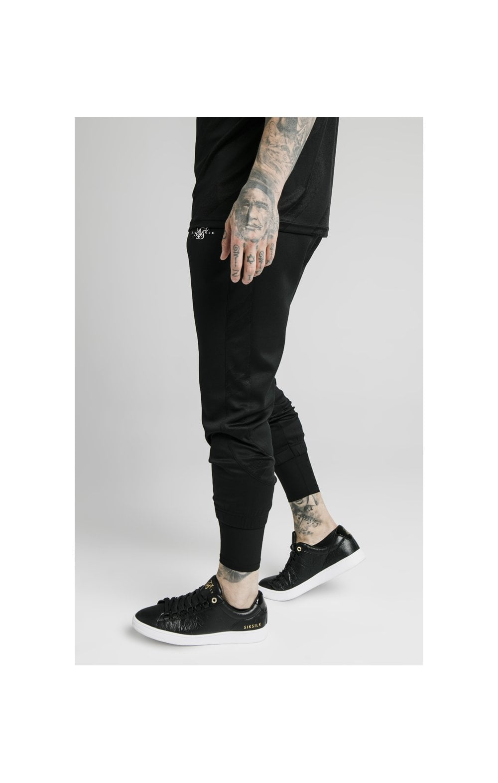 Load image into Gallery viewer, SikSilk Tranquil Dual Cuff Pants - Black & Grey (1)