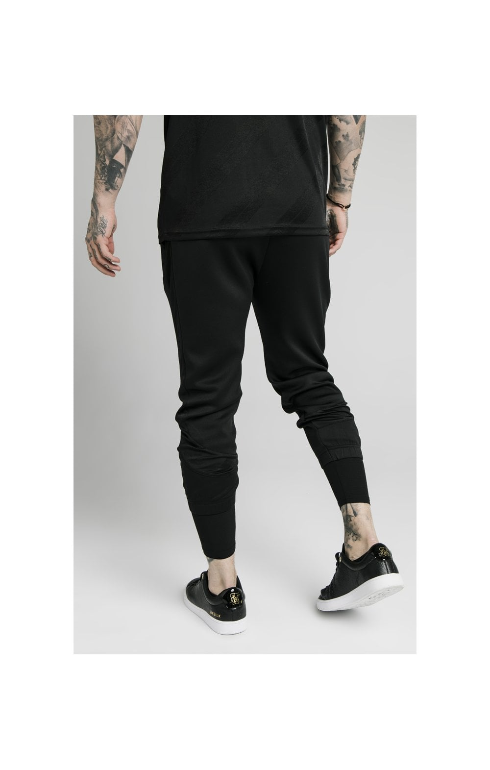 Load image into Gallery viewer, SikSilk Tranquil Dual Cuff Pants - Black & Grey (2)