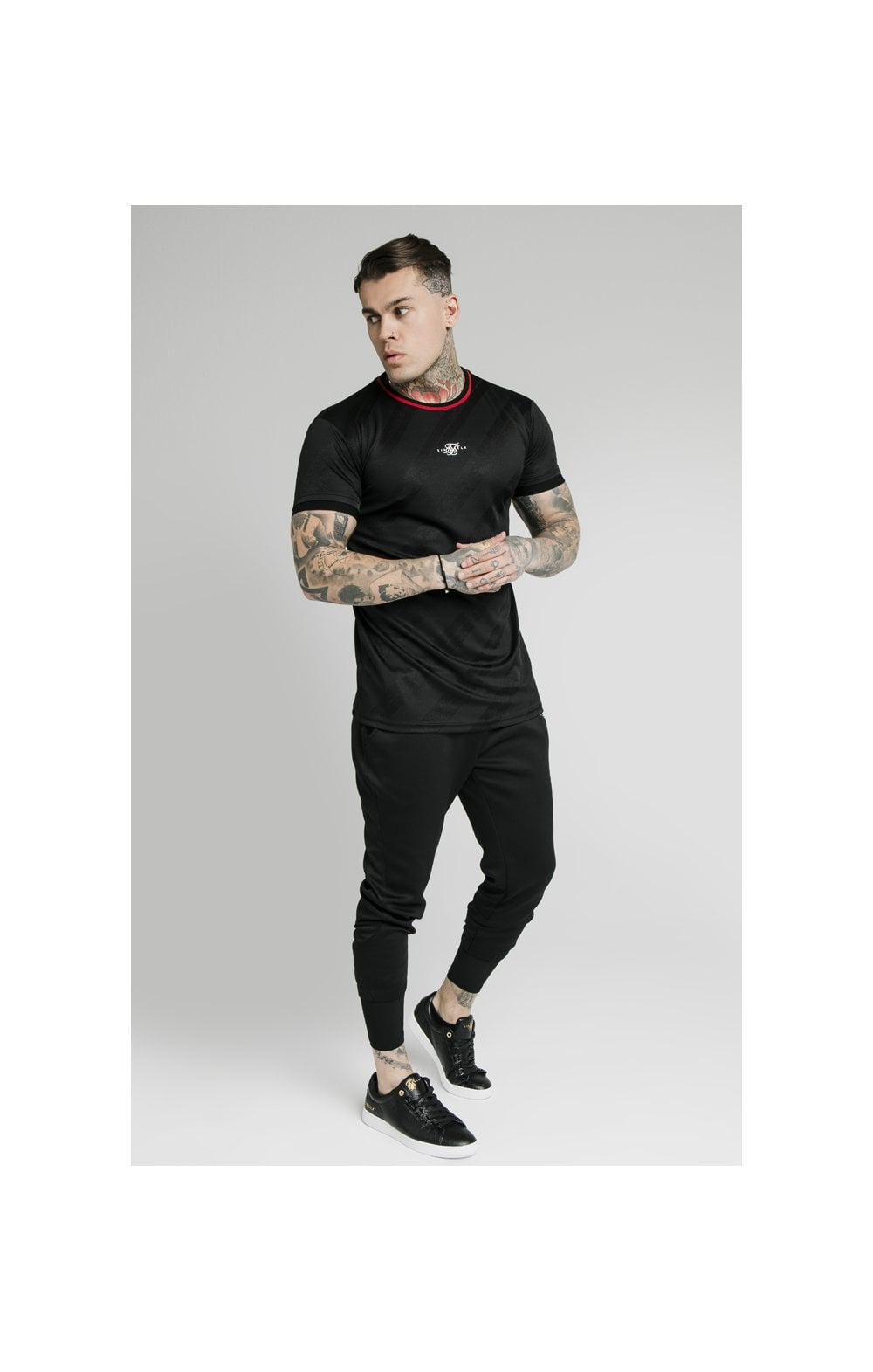 Load image into Gallery viewer, SikSilk Tranquil Dual Cuff Pants - Black & Grey (3)