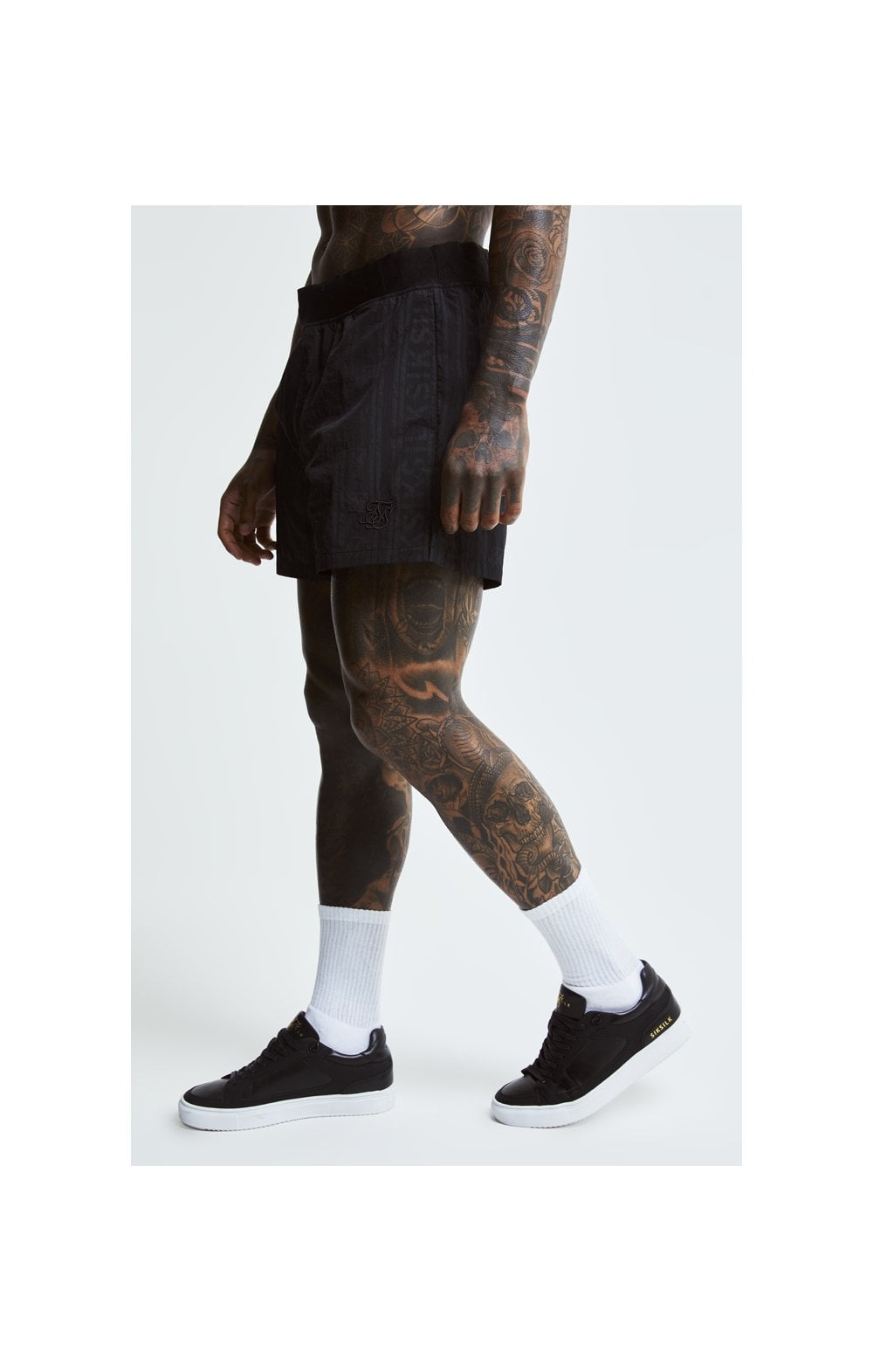 SikSilk Swim Shorts – Black & Grey (2)