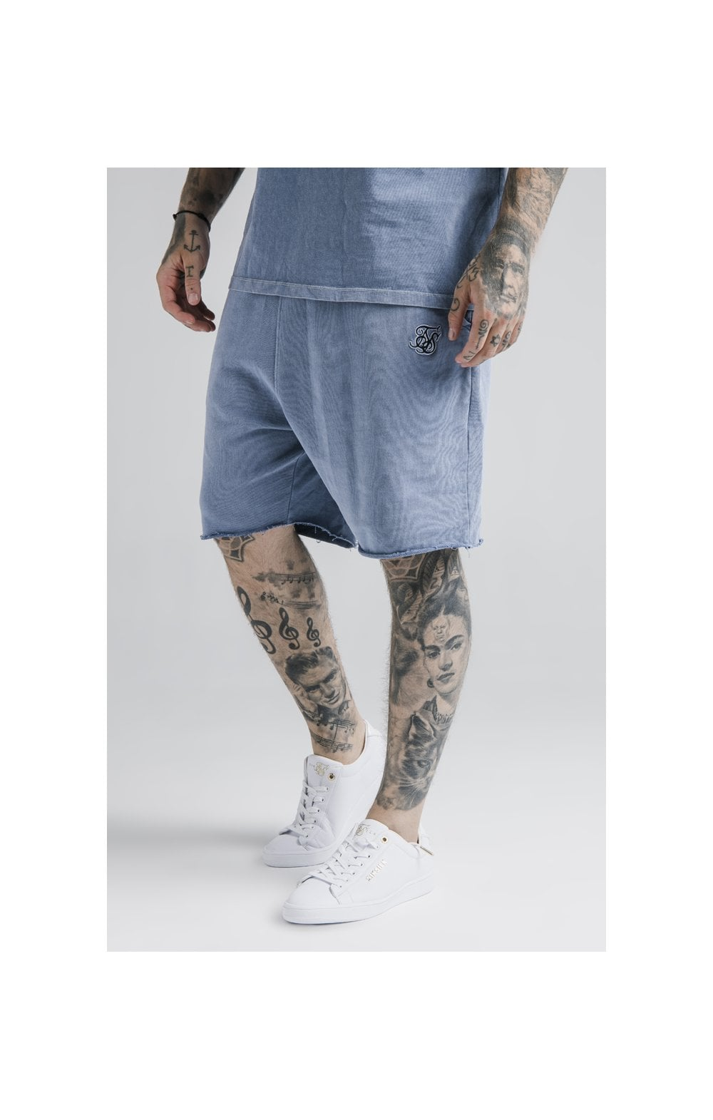 SikSilk Relaxed Shorts - Washed Blue