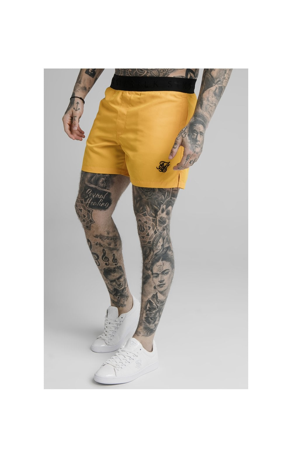 SikSilk Standard Swim Shorts  Yellow