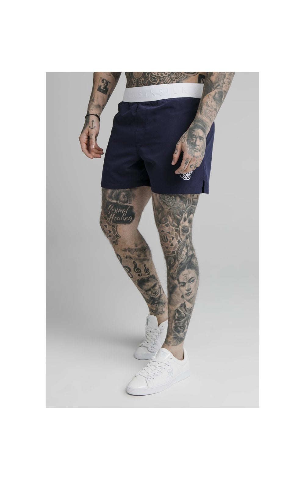 SikSilk Standard Swim Shorts  Navy
