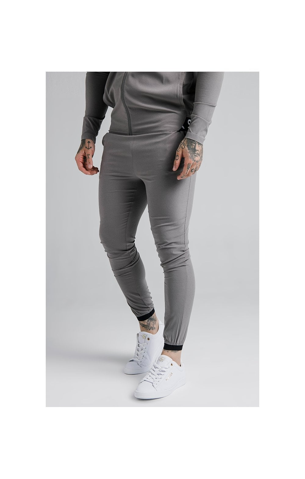 SikSilk Agility Poly Ripstop Track Pants  Grey