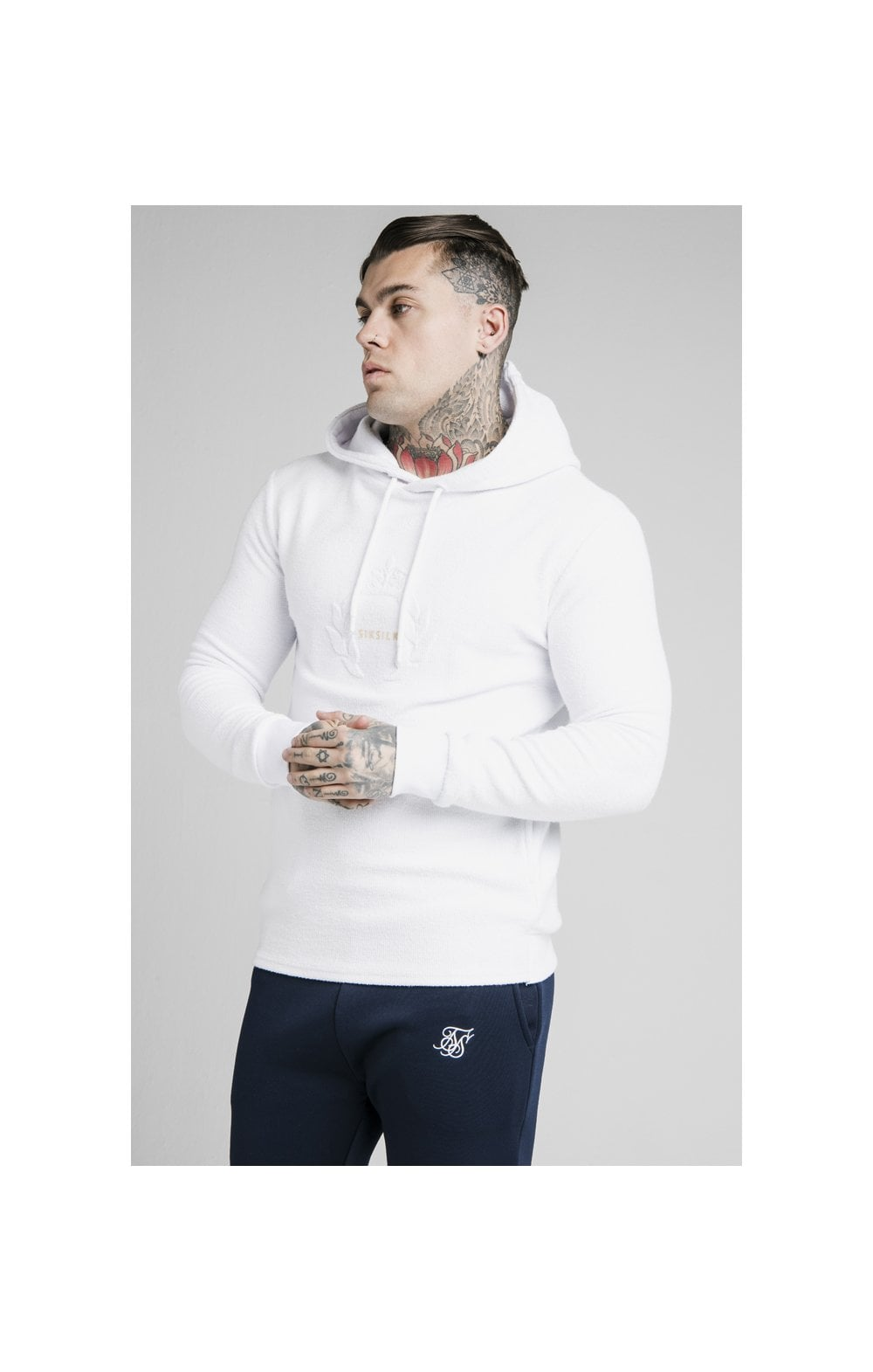 SikSilk Element Overhead Hoodie - White