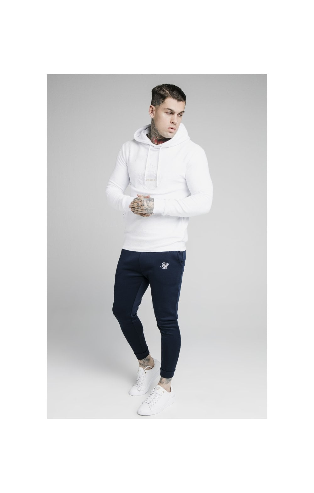 SikSilk Element Overhead Hoodie - White (2)