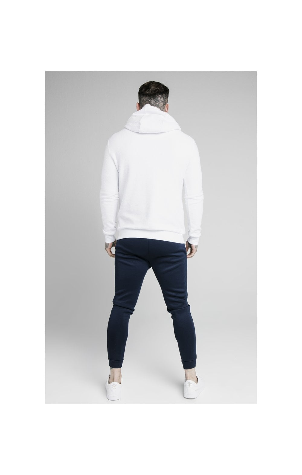 SikSilk Element Overhead Hoodie - White (5)