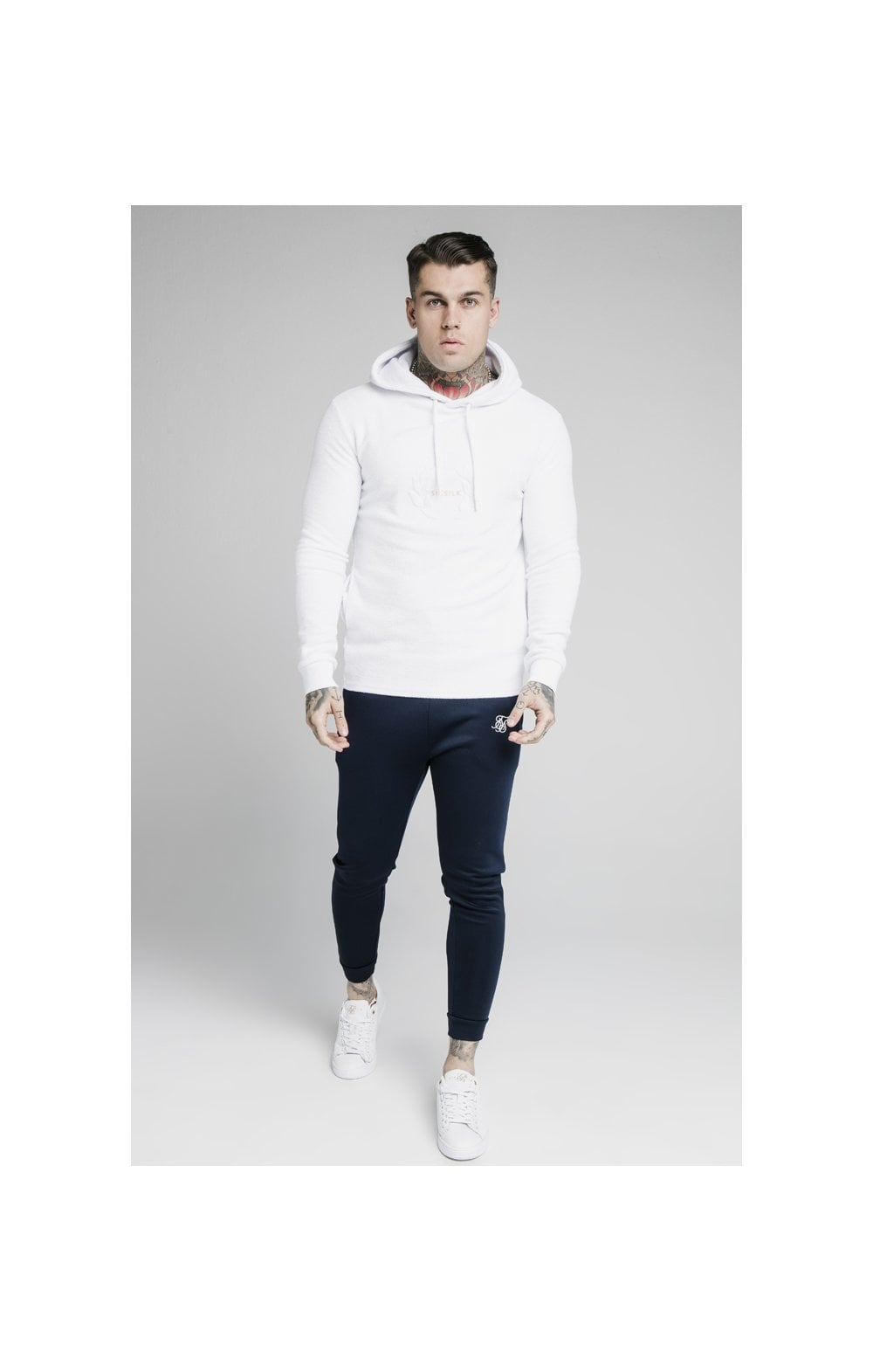 SikSilk Element Overhead Hoodie - White (3)