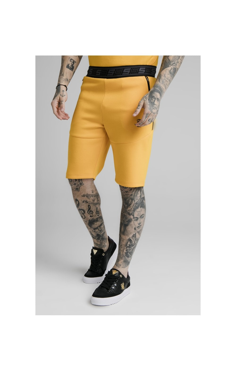 SikSilk Exhibit Function Shorts - Yellow