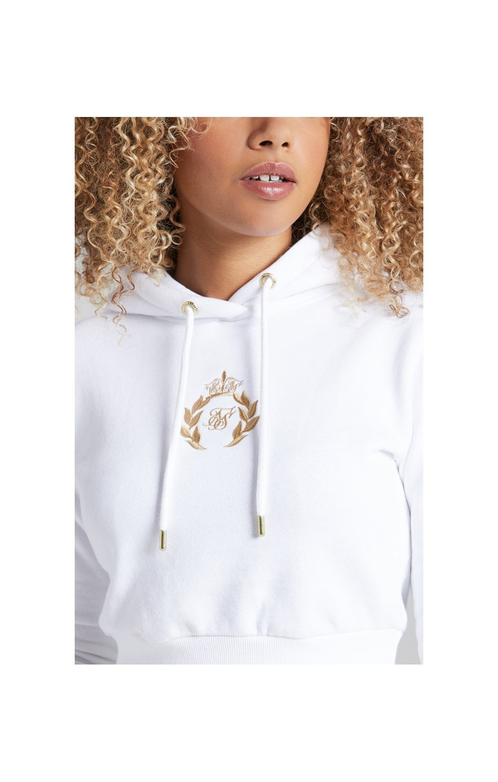Load image into Gallery viewer, SikSilk Prestige Cropped Hoodie - White