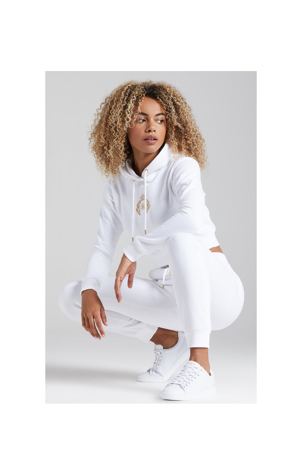 Load image into Gallery viewer, SikSilk Prestige Cropped Hoodie - White (4)