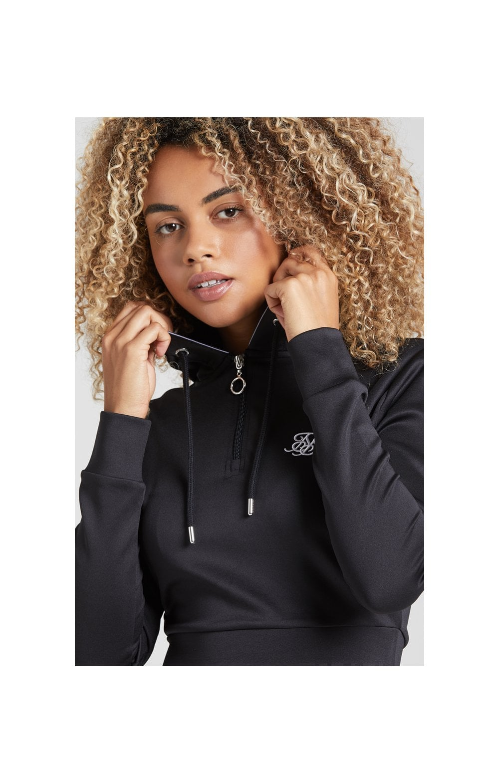 Load image into Gallery viewer, SikSilk Tape 1/4 Zip Track Top - Black (1)