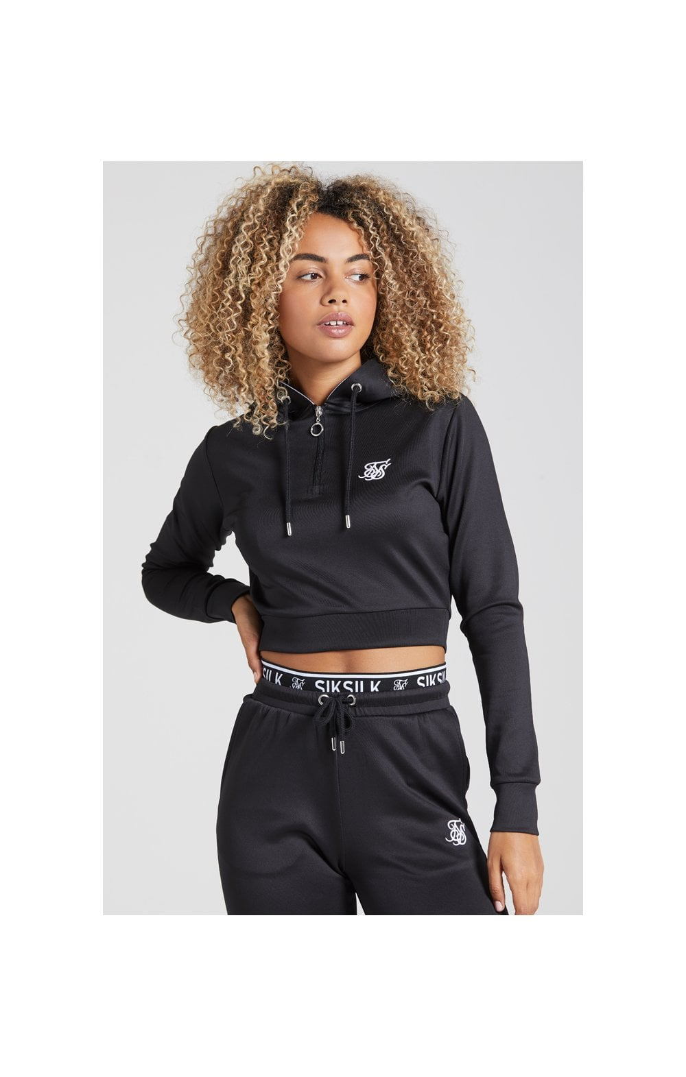 Load image into Gallery viewer, SikSilk Tape 1/4 Zip Track Top - Black (2)