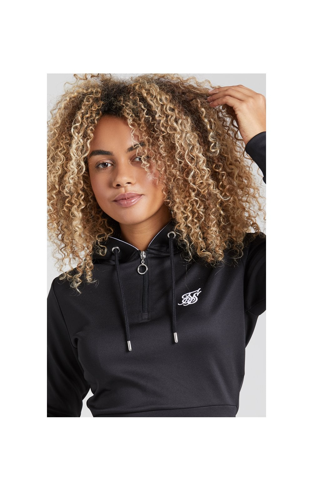 Load image into Gallery viewer, SikSilk Tape 1/4 Zip Track Top - Black (3)