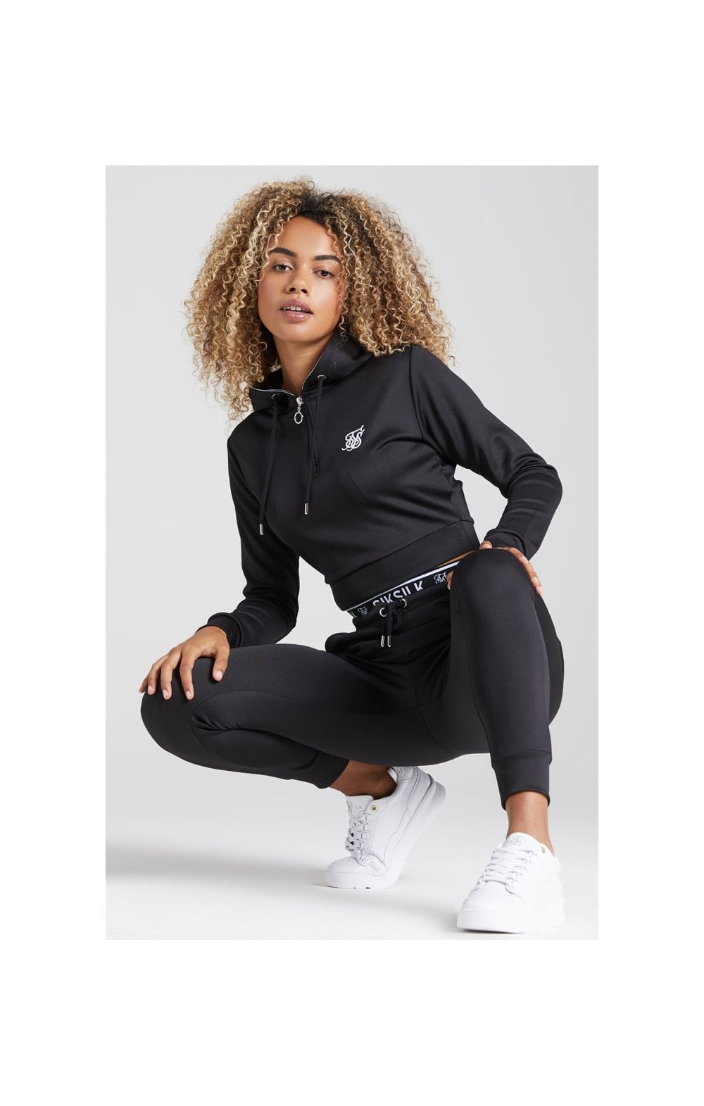 Load image into Gallery viewer, SikSilk Tape 1/4 Zip Track Top - Black (4)