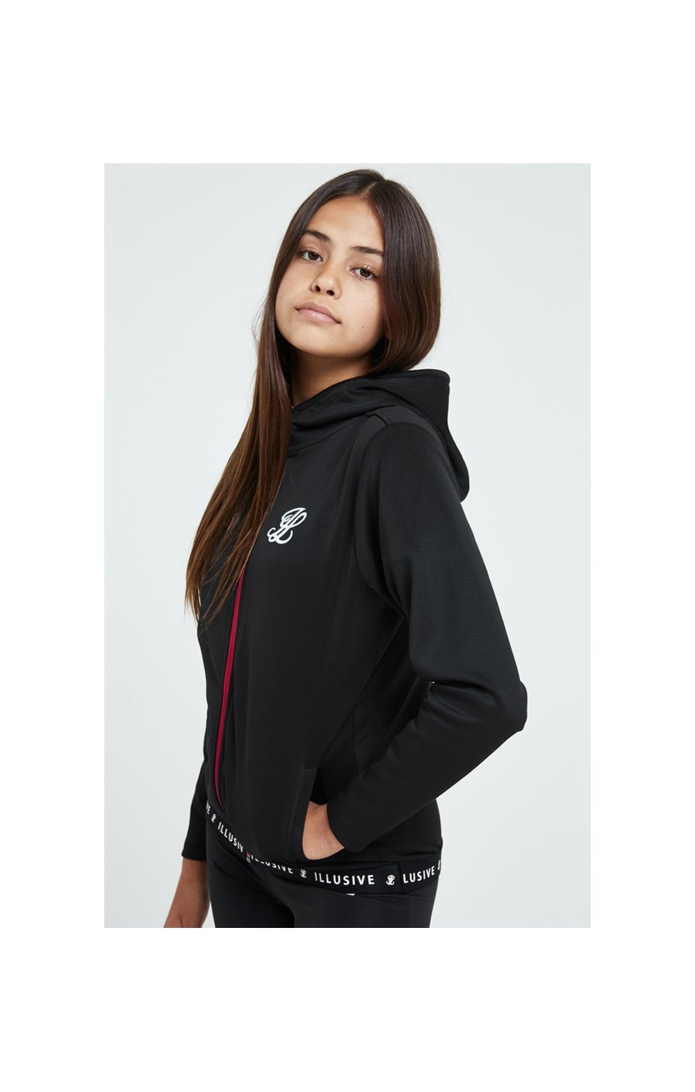 Load image into Gallery viewer, Illusive London Tape Track Jacket - Black