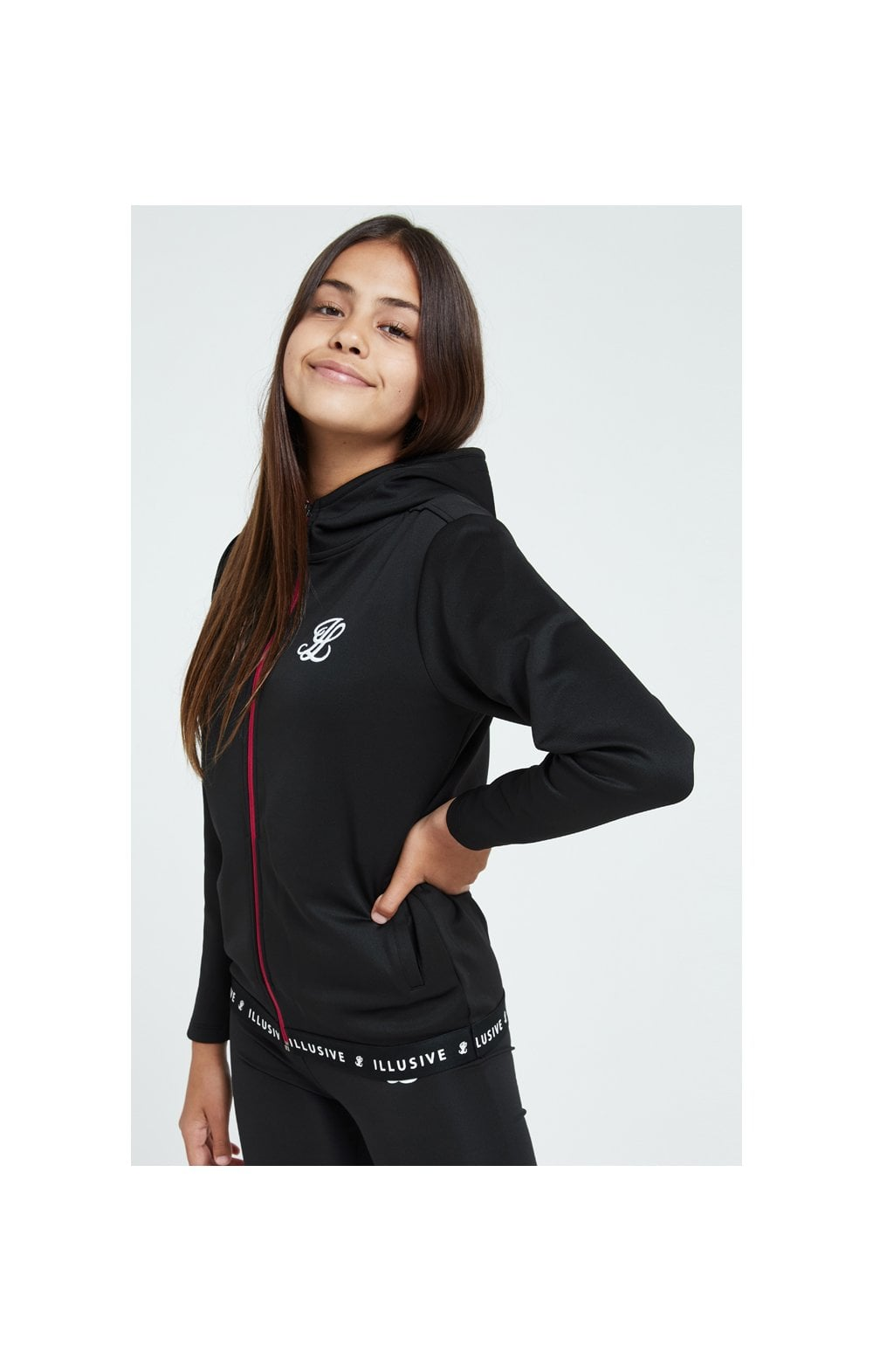 Load image into Gallery viewer, Illusive London Tape Track Jacket - Black (1)