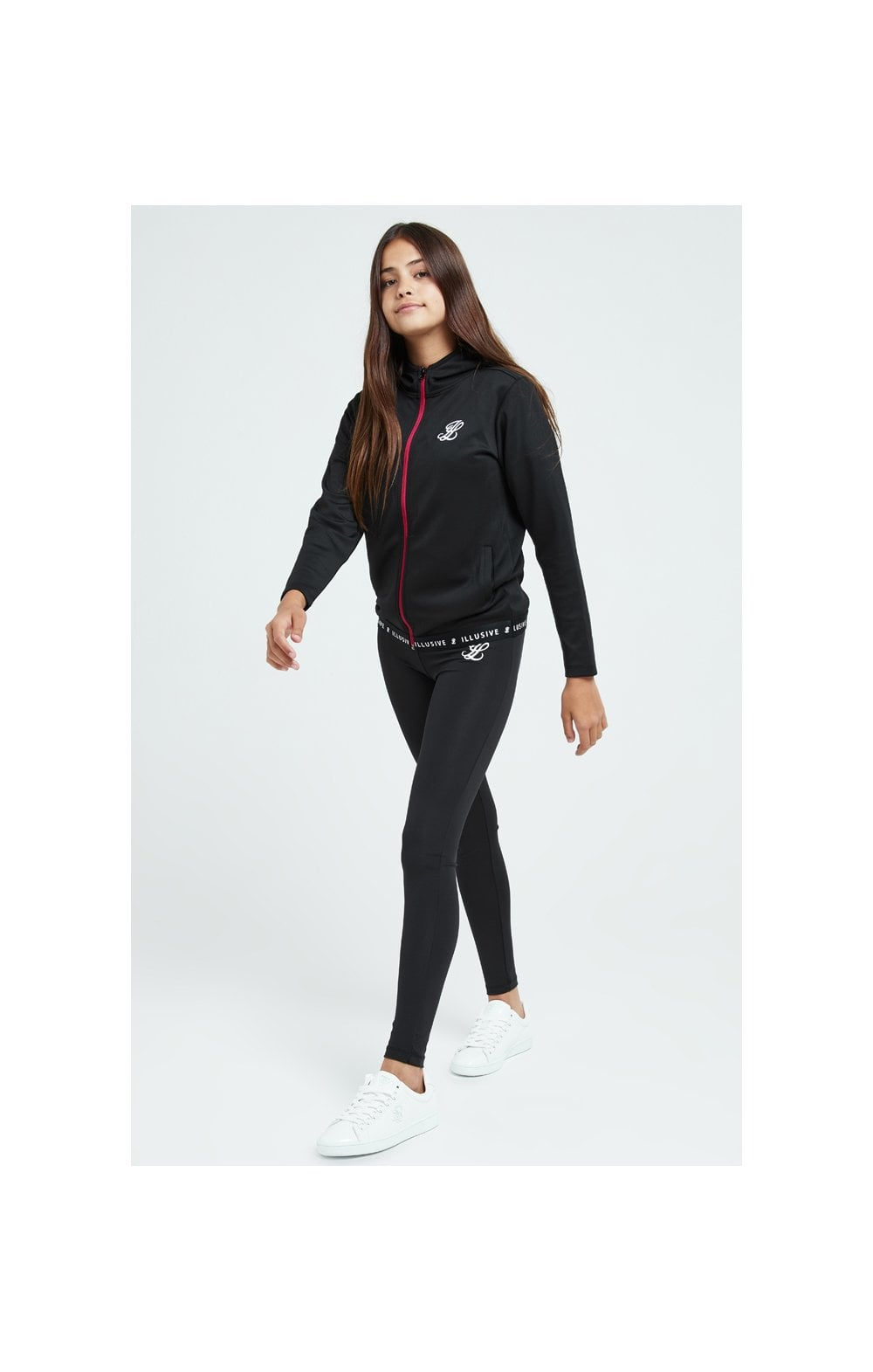 Load image into Gallery viewer, Illusive London Tape Track Jacket - Black (4)