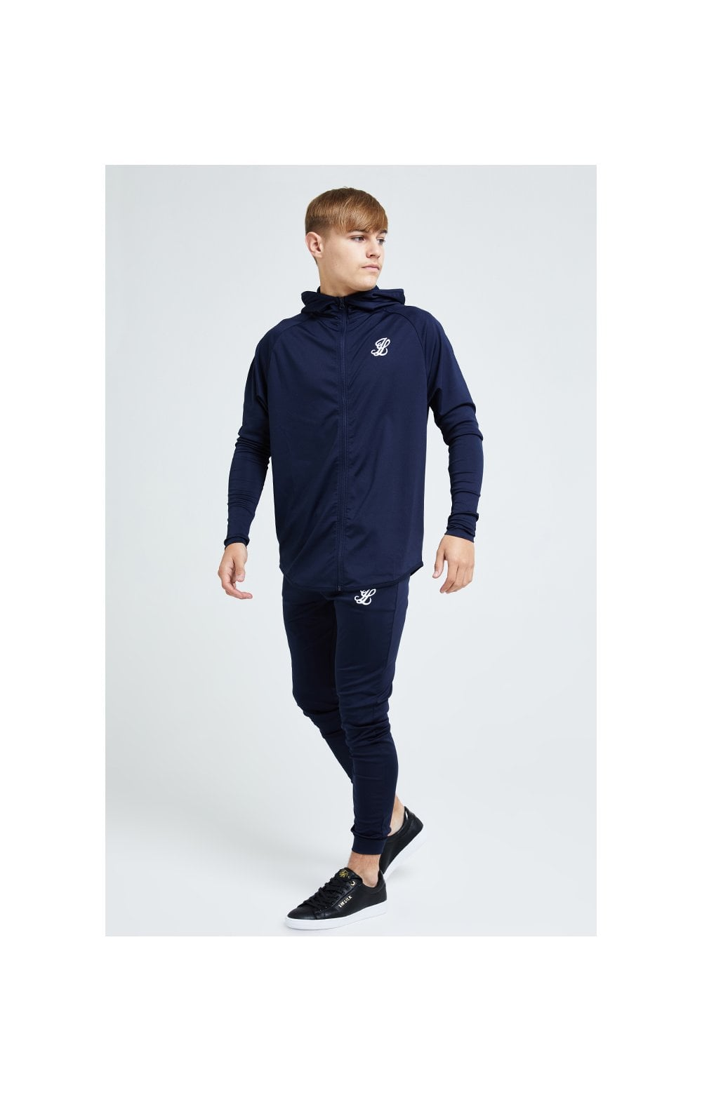 Load image into Gallery viewer, Illusive London Core Athlete Hoodie - Navy (4)