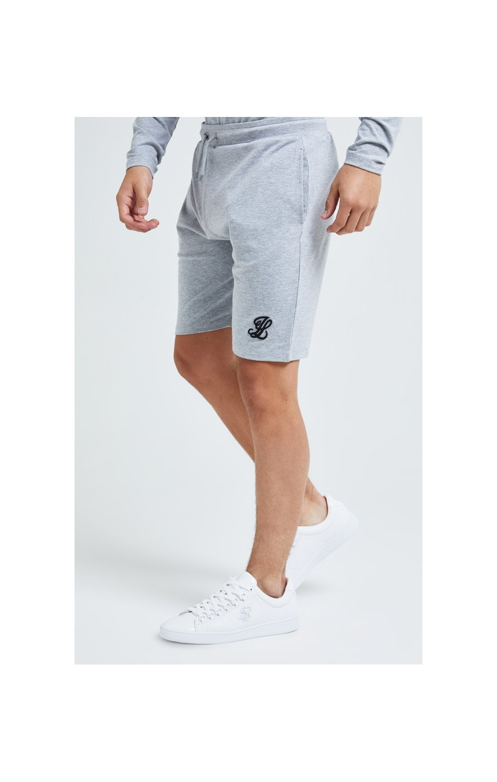 Illusive London Core Jersey Shorts - Grey Marl (1)