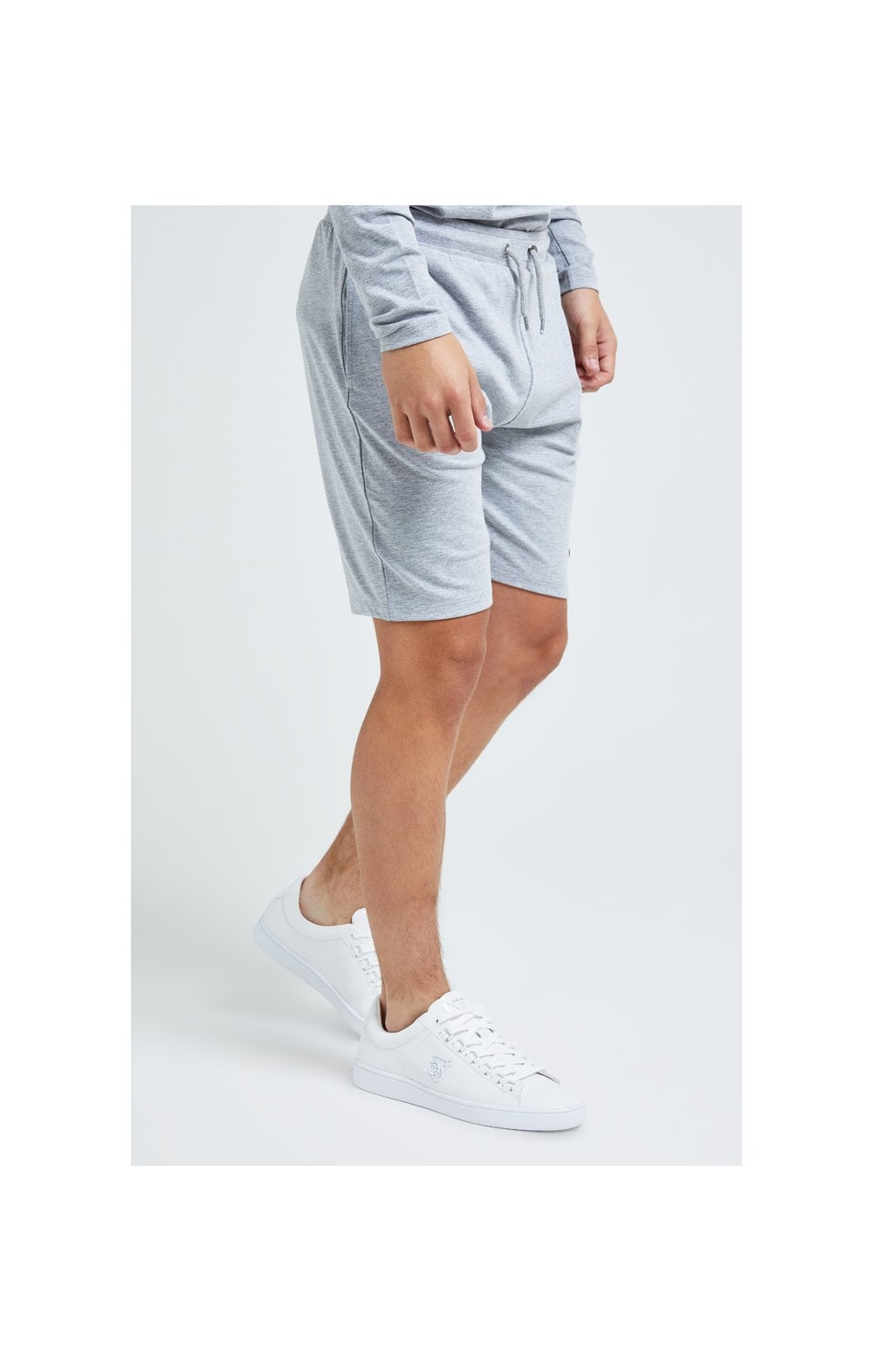 Illusive London Core Jersey Shorts - Grey Marl (2)