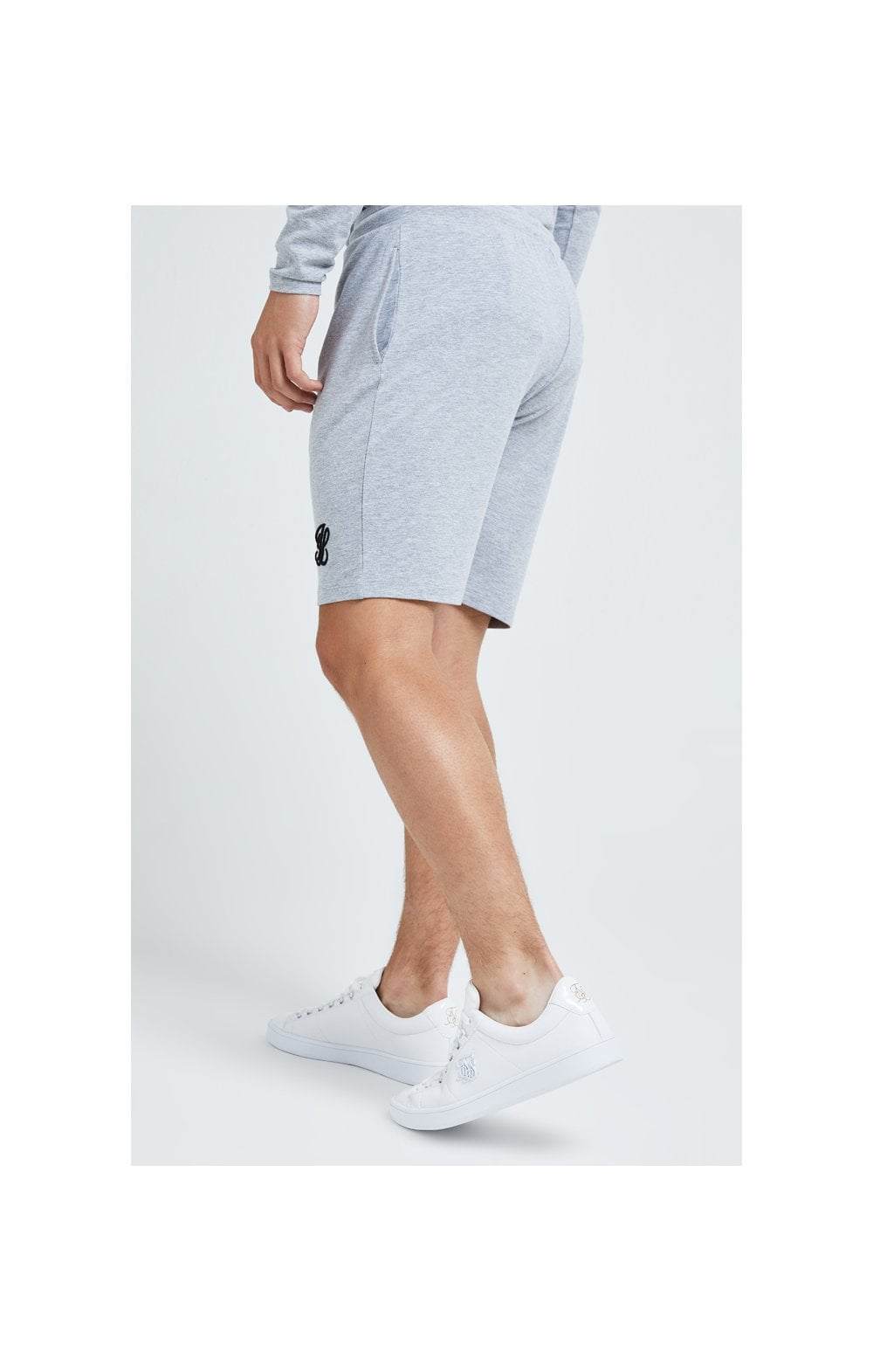 Illusive London Core Jersey Shorts - Grey Marl (3)
