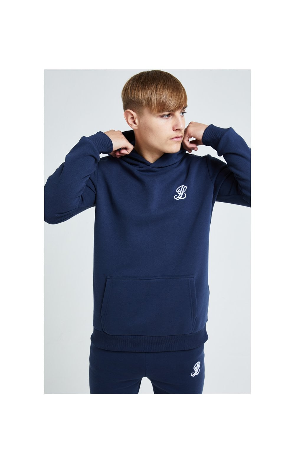 Load image into Gallery viewer, Illusive London Core Overhead Hoodie - Navy
