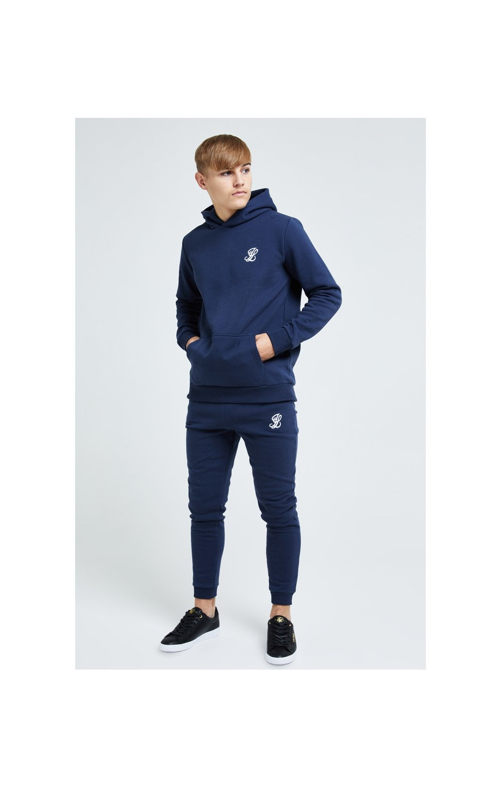 Load image into Gallery viewer, Illusive London Core Overhead Hoodie - Navy (3)